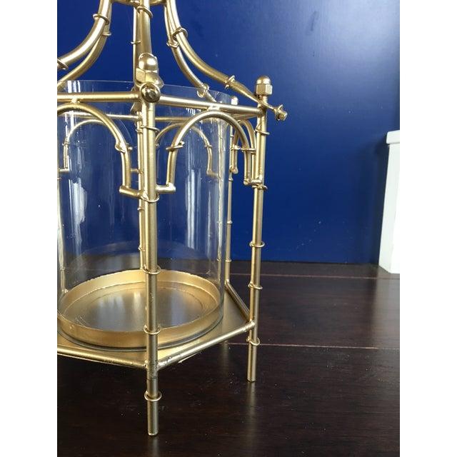 Gold Finish Pagoda Lantern - Image 10 of 11