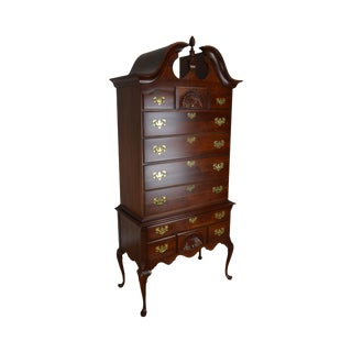 Kincaid Solid Cherry Traditional Queen Anne Highboy For Sale
