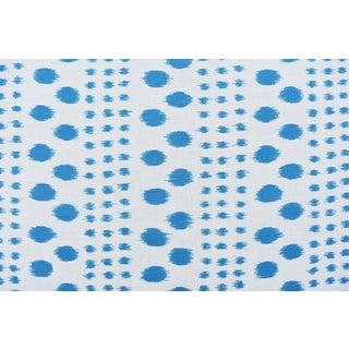 Virginia Kraft Polkat Fabric, 3 Yards in Indigo For Sale