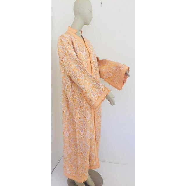 Boho Chic Moroccan Caftan in Gold Brocade For Sale - Image 3 of 13