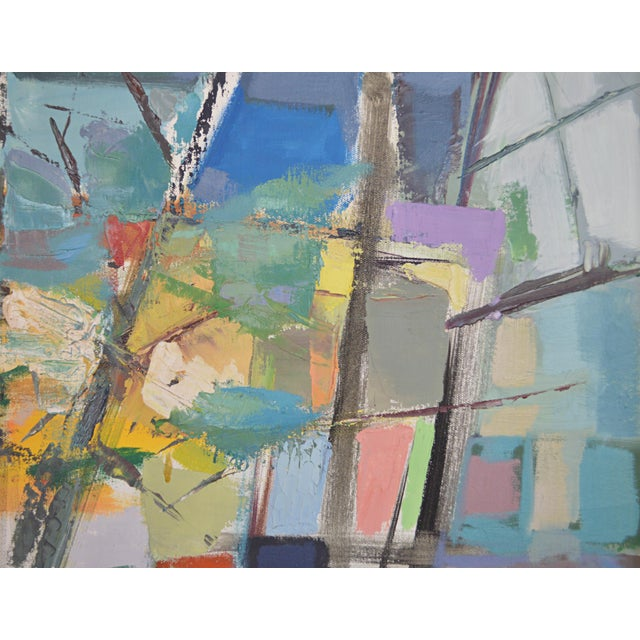Canvas Mid 20th Century Abstract Expressionist Painting by Armando Del Cimmuto For Sale - Image 7 of 13