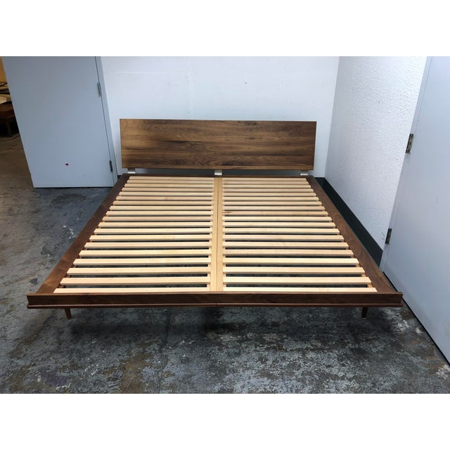 Herman Miller Nelson Walnut Thin Edge King Bed For Sale - Image 11 of 11