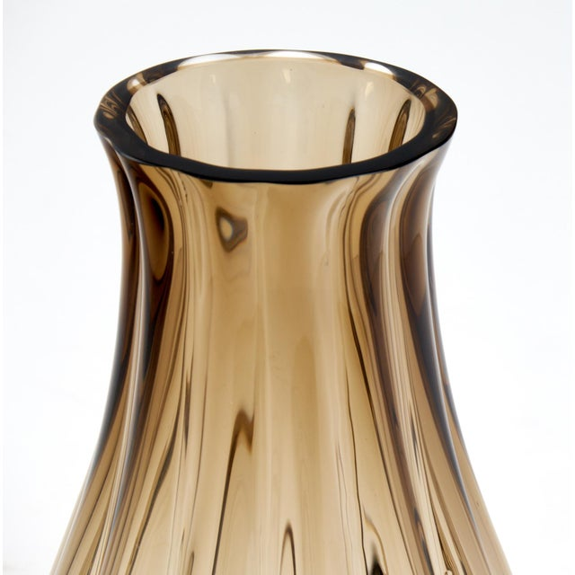 Glass Large Murano Smoked Glass Vase For Sale - Image 7 of 10