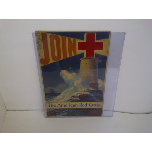 """Offered is a vintage American red cross poster by Howard Smith. This poster urges the viewer to """"Join The American Red..."""