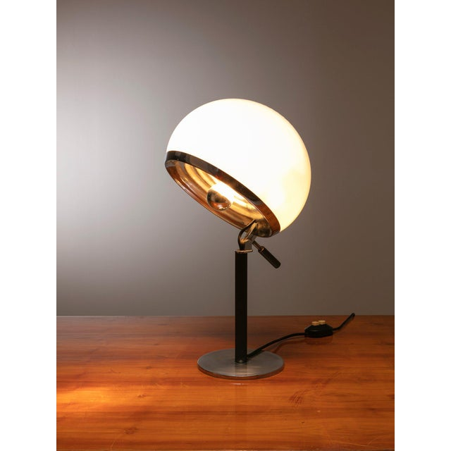 """Remarkable """"Bino"""" table lamp by Vittorio Gregotti, Lodovico Meneghetti and Giotto Stoppino for candle. Two independent..."""
