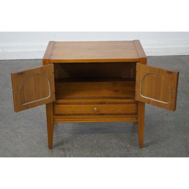 Basic Witz Mid-Century Modern Walnut Nightstand For Sale - Image 9 of 10