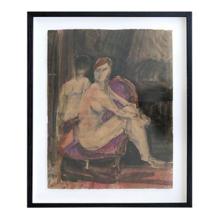 Figurative Robert Andrew Parker Painting of Two Figures in Aquatint For Sale