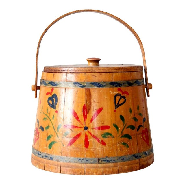 Antique Painted Sugar Bucket For Sale - Image 10 of 10