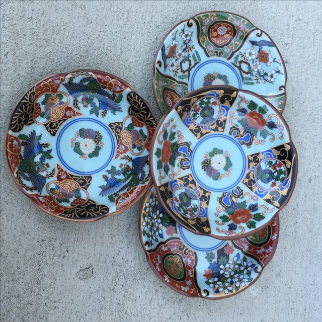 Vintage Japanese Porcelain Side Dishes - Set of 4 - Image 11 of 11