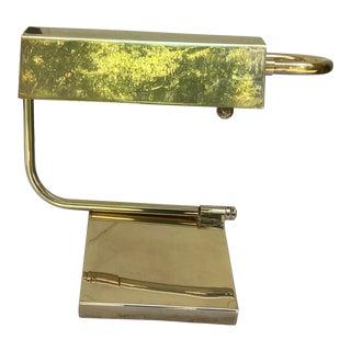 1980s Chapman Modernist Brass Desk Lamp For Sale
