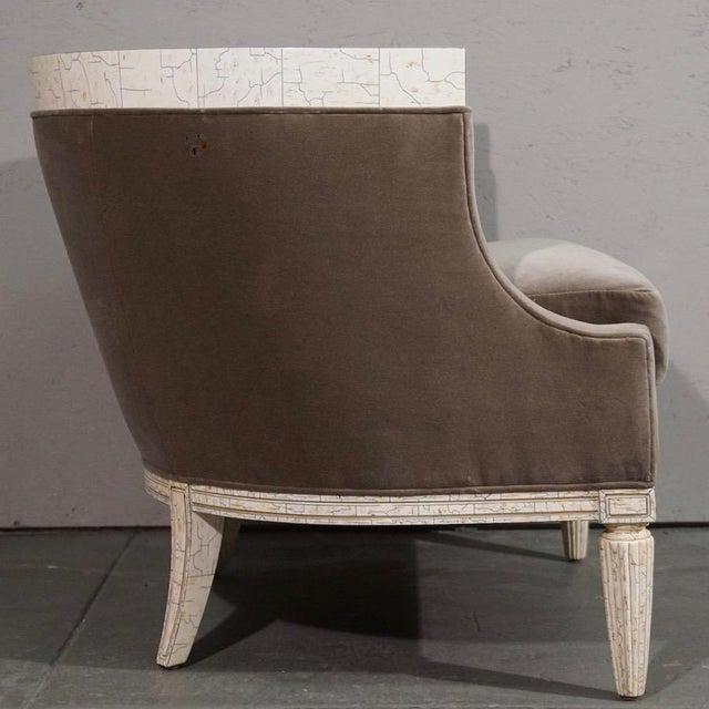 Velvet Barrel Chair - Image 3 of 8