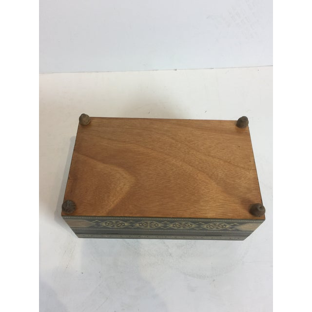 2010s Handcrafted Inlaid Wood Moorish Jewelry Box For Sale - Image 5 of 13