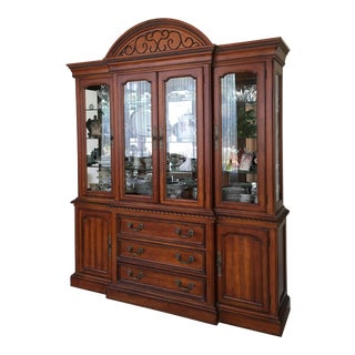 Hickory White Breakfront China Cabinet