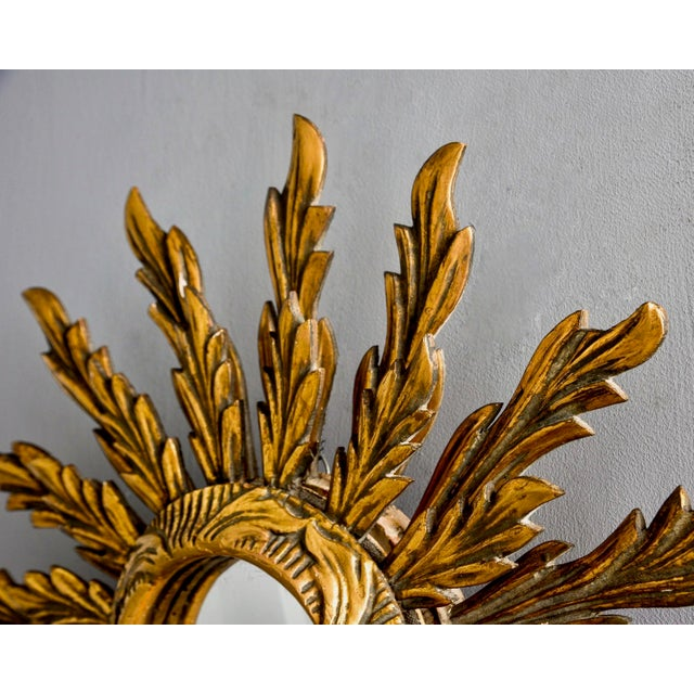 1960s Double Layer Giltwood Sunburst Mirror For Sale - Image 5 of 11