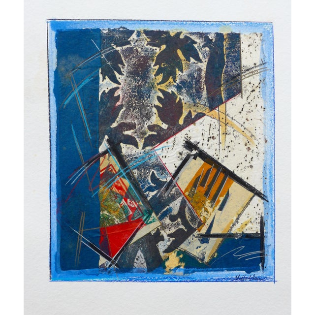 Blue Abstract Drawing, Light in the Leaves For Sale - Image 8 of 9
