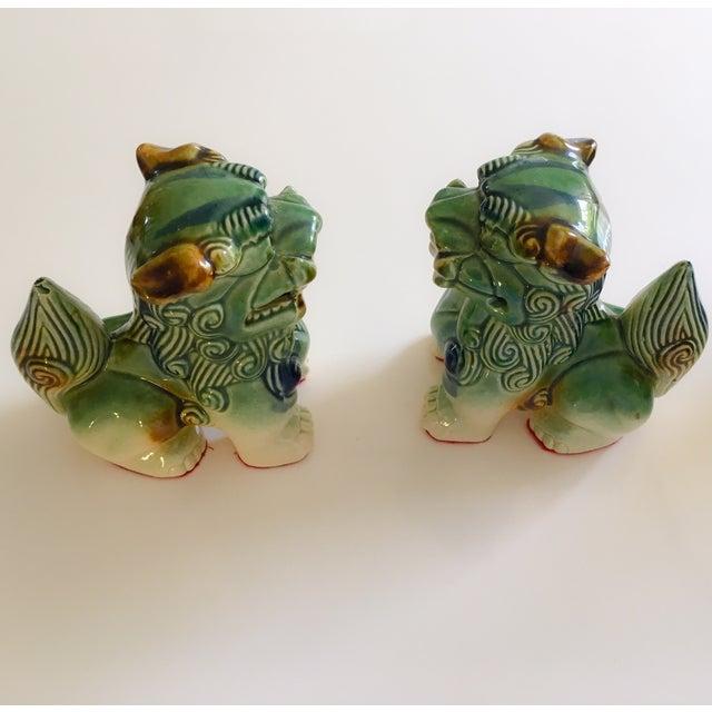 Ceramic Foo Dog Figurines - Pair - Image 6 of 10