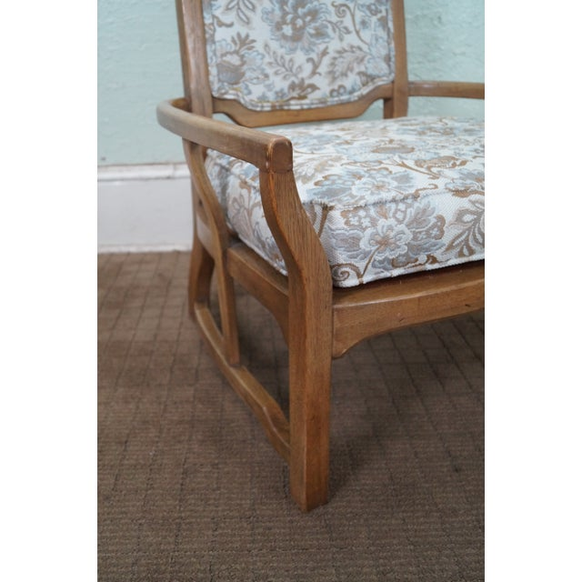 Mid Century Modern Walnut Upholstered Arm Chair - Image 8 of 10