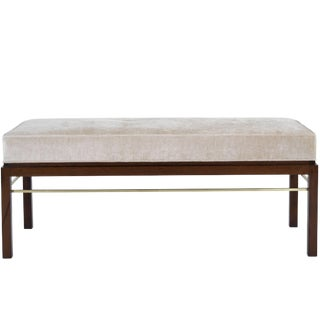 Edward Wormley for Dunbar Brass Stretcher Bench For Sale