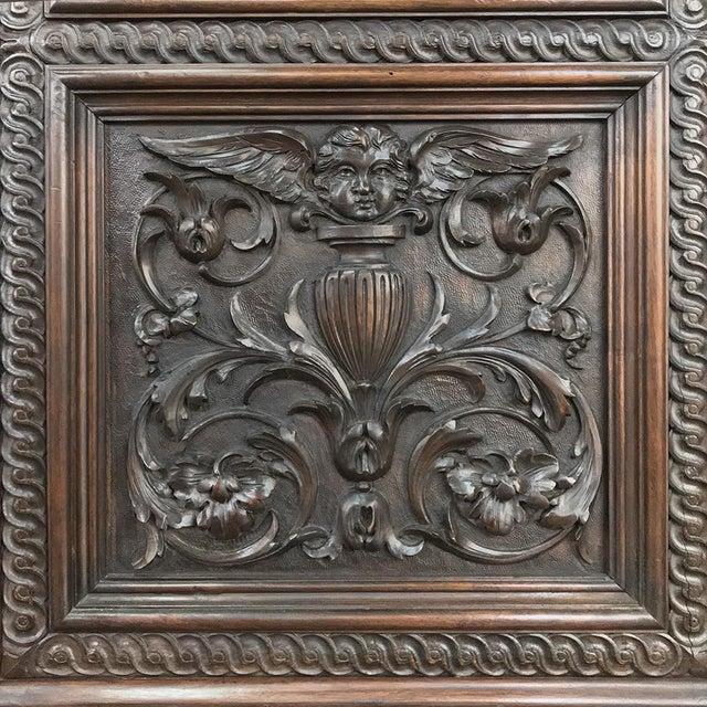 Metal Antique Italian Renaissance Walnut Curio Cabinet For Sale - Image 7 of 13