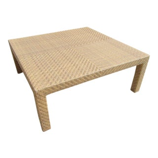 Oscar De La Renta by Century Furniture Wicker Rattan Coffee Cocktail Table