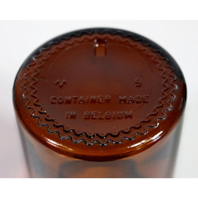 Belgian Amber Glass Apothecary Airtight Jars - Set of 3 For Sale In Los Angeles - Image 6 of 7