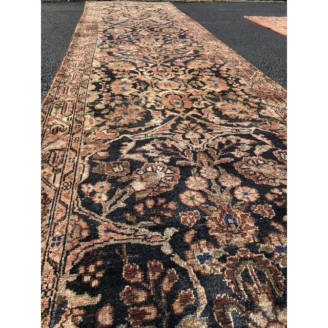 """1960s 1960s Persian Malayer Wool Runner - 3'5""""x19'4"""" For Sale - Image 5 of 13"""