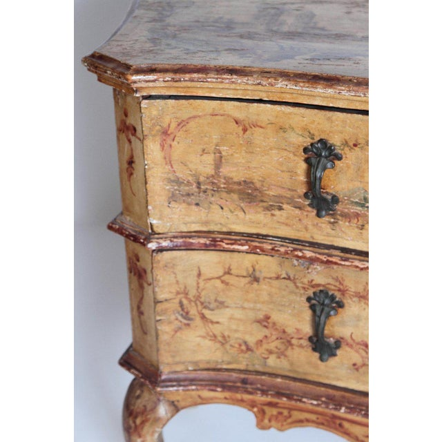 Mid 18th Century Mid 18th Century Italian Painted Two Drawer Commode For Sale - Image 5 of 13