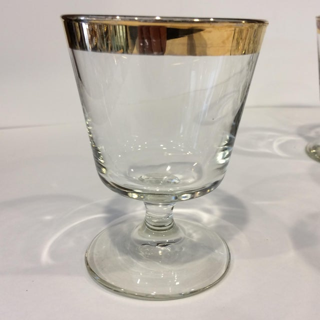 Mid-Century Gold Rim Rocks Cocktail Glasses - Set of 12 - Image 4 of 11