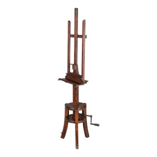 19th C. French Painter's Display Easel For Sale