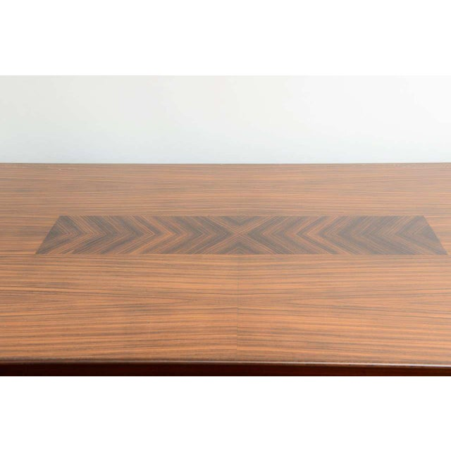 Mid 20th Century Mid-Century Modern Dining Room Table Lacquered Extension Leaves For Sale - Image 5 of 12