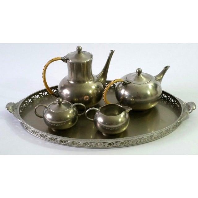 Traditional 1960s Vintage Royal Holland Pewter Tea Serving Set For Sale - Image 3 of 11