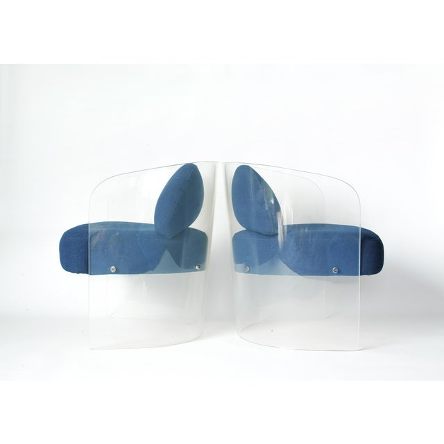 1960s Space Age Lucite Barrel Lounge Chairs - a Pair For Sale - Image 5 of 13