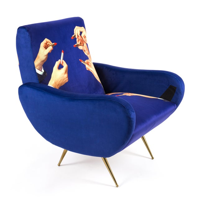 Not Yet Made - Made To Order Seletti, Lipsticks Armchair, Blue, Toiletpaper, 2018 For Sale - Image 5 of 7