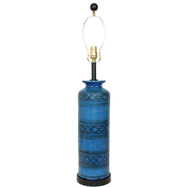 Bitossi for Raymor Blue Pottery Lamp - Image 1 of 9