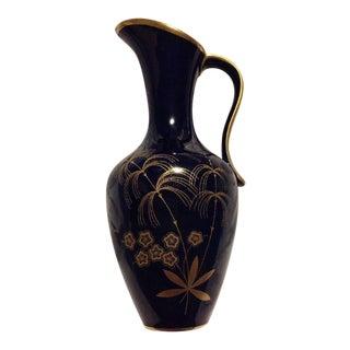 Vintage Lindner Kueps Bavaria Porcelain Cobalt Vase