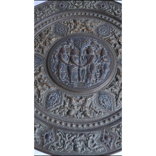 19th Century Tanjore Brass Plaque #1, South India For Sale - Image 5 of 10