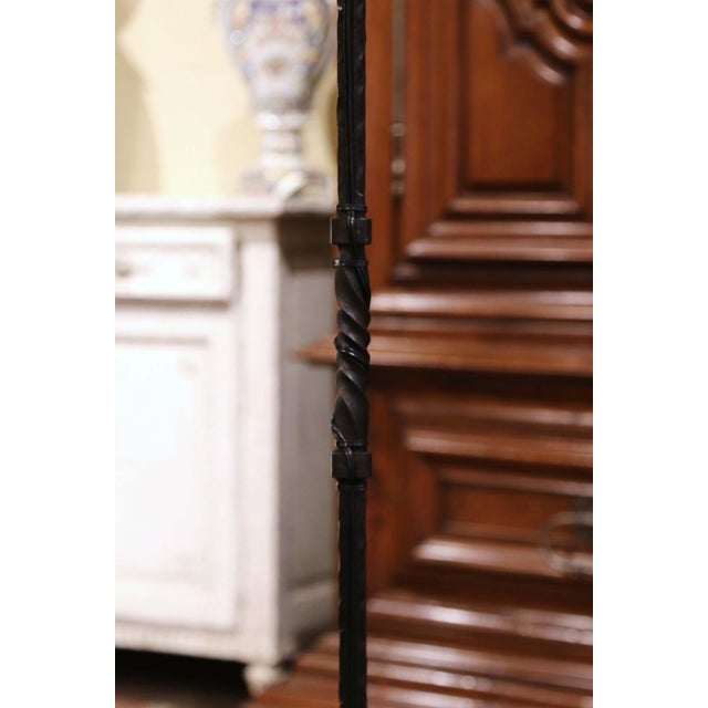 Early 20th Century French Gothic Forged Iron Four-Light Floor Lamp For Sale - Image 10 of 13
