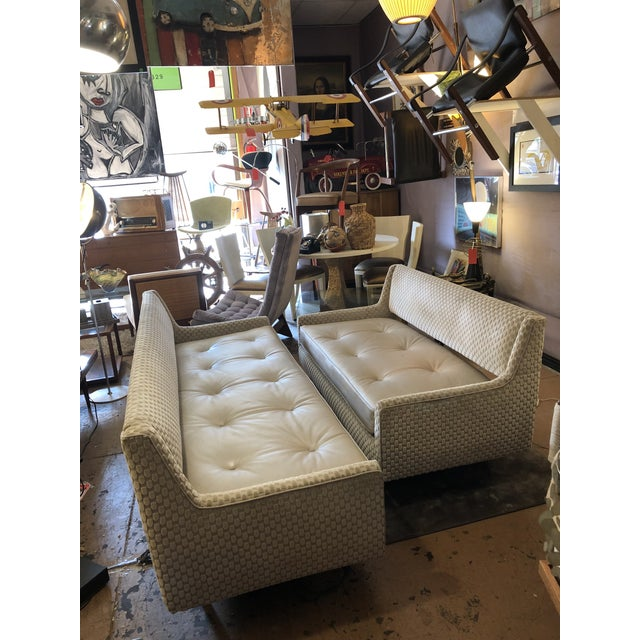 Mid Century Modern Edward Wormley by Dunbar Open Back Sofas Newly Upholstered - Set of 2 For Sale - Image 9 of 9