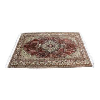 Turkish Keyseri Style Wool Rug -3′9″ × 5′11″ For Sale