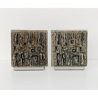 Vintage Brutalist Style Bookends - a Pair Preview