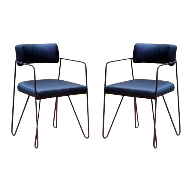 Wire Dining Chairs - Pair - Image 1 of 3