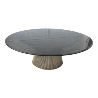 Warren Platner for Knoll Mid-Century Modern Stainless Wire Coffee Table For Sale