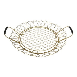 Vintage Brass Wire Pie Plate Holder