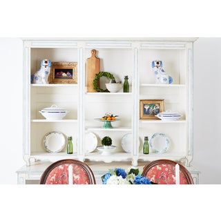 French Provincial Style Painted Open Shelf Cabinet Bookcase Preview