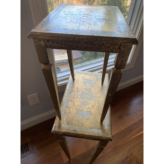 Gold 1940s French Nesting Tables - Set of 3 For Sale - Image 8 of 11