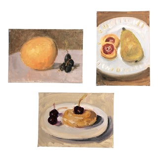 Gallery Wall Collection 3 Small Impressionist Still Life Paintings For Sale