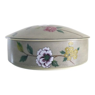 1980s Japanese Ceramic Trinket Box For Sale