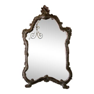 Pair of 20th Century Italian Gilded Mirrors For Sale