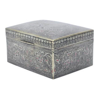 Indian Brass Box For Sale