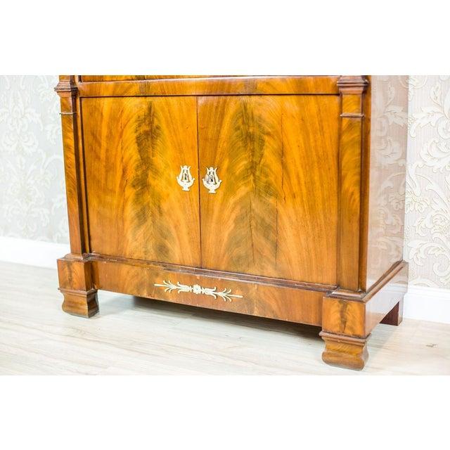 Wood 18th Century Empire Secretary Veneered with Mahogany For Sale - Image 7 of 13